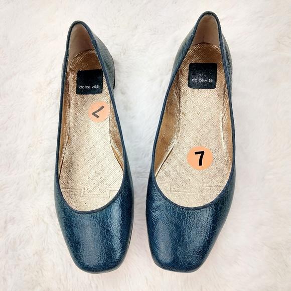 9cbe94433b2 Dolce Vita Shoes - Dolce Vita Teal Ballerina Flats Leather like new!
